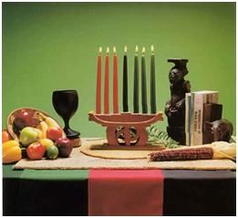 Arrange Kwanzaa Symbols And Decorations