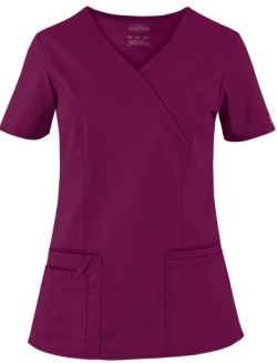 Cherokee Workwear STRETCH Scrubs Mock Wrap Top