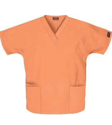 4700 Cherokee Workwear Two Pocket Top In Orange Sorbet
