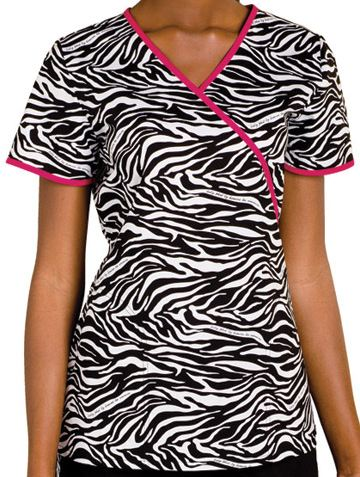 Baby Phat Animal Insintct Mock Wrap Scrub Top 26826ANM