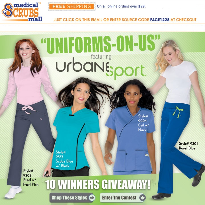 Medical Scrubs Mall Urbane Sport