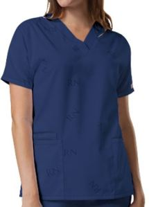 Cherokee Workwear I.D. Scrubs V-Neck RN Scrub Top; Style # CK4999 found on MedicalScrubsMall.com
