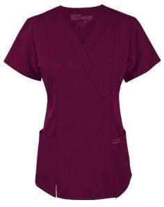 Grey's Anatomy Scrubs V-Neck Mock Wrap Top ; Style # 41101 found on MedicalScrubsMall.com