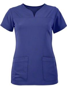 Grey's Anatomy Signature STRETCH Curved Notch Neck Scrub Top; Style # GA2121 found on MedicalScrubsMall.com