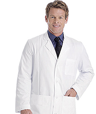 Landau 3161 Men's Premium Lab Coat - 100% Cotton found on MedicalScrubsMall.com