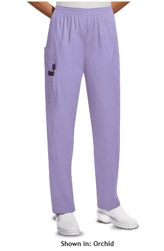 MSM Cherokee Workwear Women's Cargo Elastic Waist Scrub Pant, Style 4200 found on MedicalScrubsMall.com
