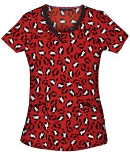 MSM HeartSoul Scrubs So-Fur-ocious Print Top, Style # HL2093SO found on MedicalScrubsMall.com