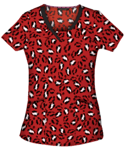 4a92435586f MSM HeartSoul Scrubs So-Fur-ocious Print Top, Style # HL2093SO found on