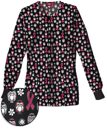 MSM100214 Dickies Everyday Scrubs Owl Always Care Round Neck Print Jacket, Style# D4310OWL found on blog.medicalscrubsmall.com