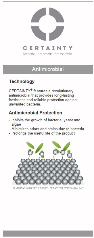 Cherokee Uniforms CERTAINTY® Antimicrobial technology