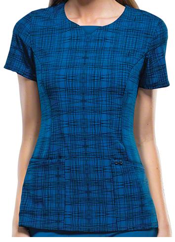 Runway meets Scrub wear! Fall 2015 Fashion Trends - Cherokee Infinity Scrubs A Fine Line Print Top