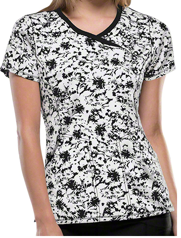 Runway meets Scrub wear! Fall 2015 Fashion Trends- Cherokee Infinity Scrubs Positively Floral Print Top