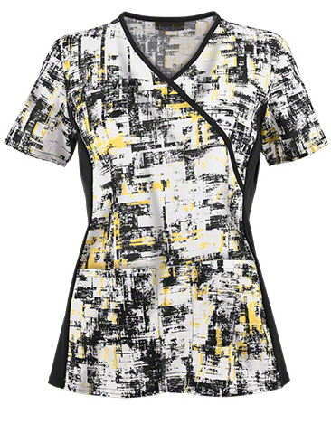 Runway meets Scrub wear! Fall 2015 Fashion Trends_Cherokee Scrubs In The Abstract Print Top