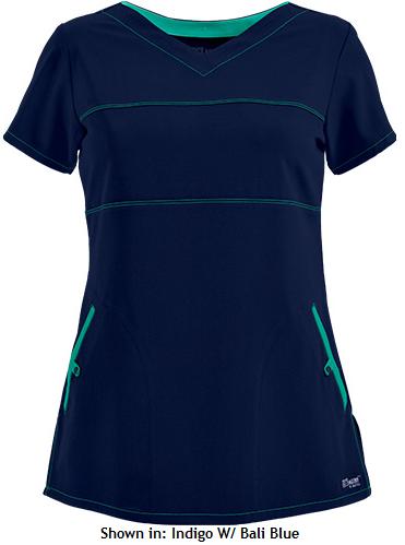 Runway meets Scrub wear! Fall 2015 Fashion Trends - Grey's Anatomy Scrubs V-Neck Top w/ Contrast Seaming