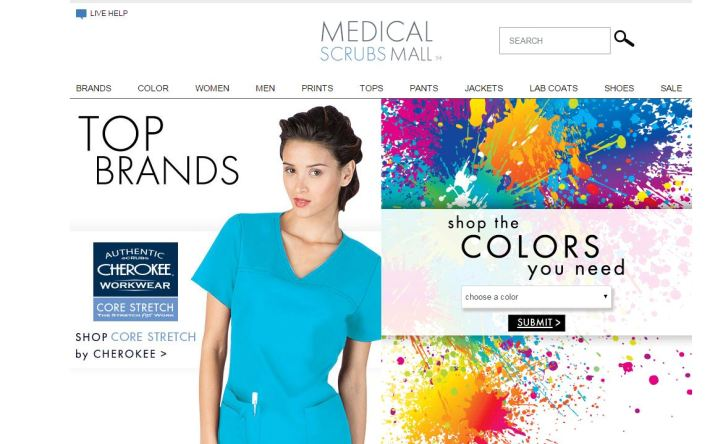 medical scrubs mall