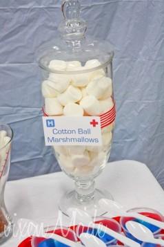 cotton ball marshmallows